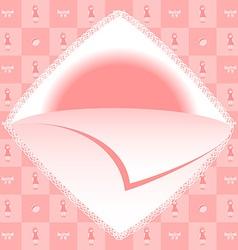Baby girl born card vector image