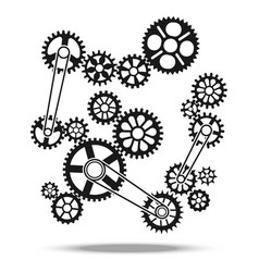 gears cogs and wheels engine transmission vector image