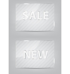Glass frame on abstract metal background vector image vector image