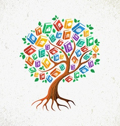 Knowledge and Education concept tree books vector image vector image