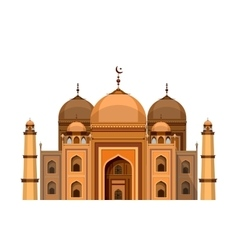 mosque on a white background vector image