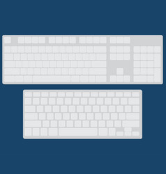 set of two flat keyboards vector image