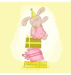 Baby Bunny Birthday vector image vector image