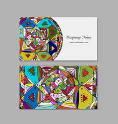 business card design ethnic mandala vector image