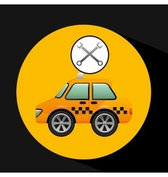 car taxi tools repair icon design vector image vector image