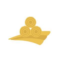 Dried haystack icon vector