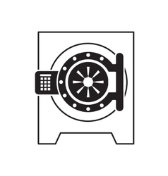 Flat icon of safe vector