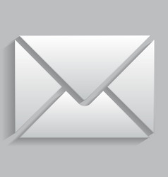 icon envelope with realistic shadows vector image