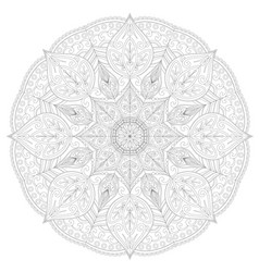 page for coloring book round lace patternmandala vector image vector image