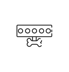 Thin line dog leash icon vector