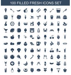 100 fresh icons vector