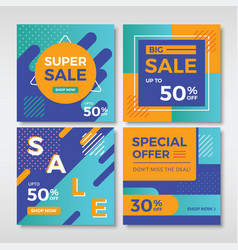 abstract sale banners for social media vol3 vector image