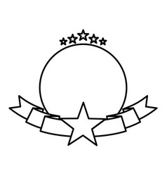 American frame with ribbon and star vector