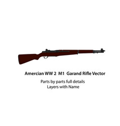 American ww2 m1 garand rifle vector