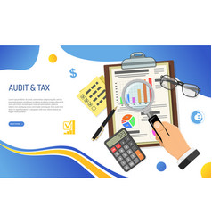 Auditing tax process accounting concept vector