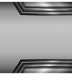 Background with glossy metallic elements vector image