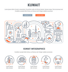 Banner kuwait vector