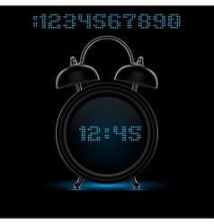 black alarm clock vector image