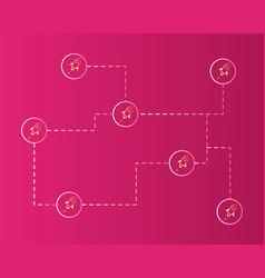Blockchain stellar digital payment style vector