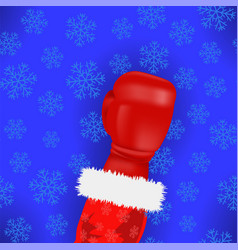 boxing santa with red glove vector image