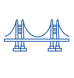 bridge line icon concept bridge flat vector image