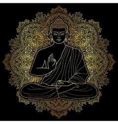 Bubbha Sitting in Lotus position vector image