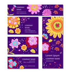 Business or invitation cards templates in vector
