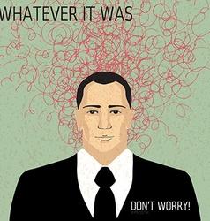 Businessman with doodles - trouble concept vector