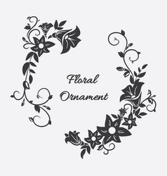 Card with flower ornament vector
