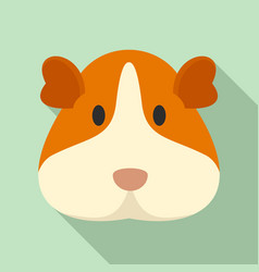 cavy face icon flat style vector image