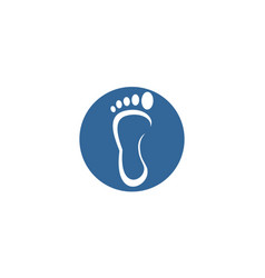 circle foot logo vector image
