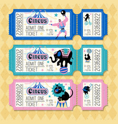 Circus animals attraction vector