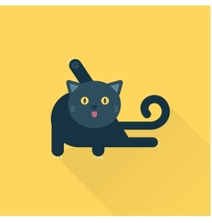 cleaning cat vector image vector image