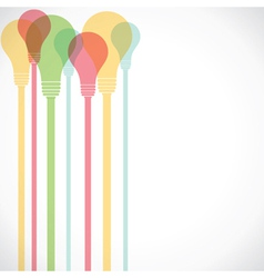 colorful bulb vector image