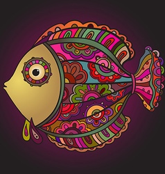 Colorful decorativel fish vector image