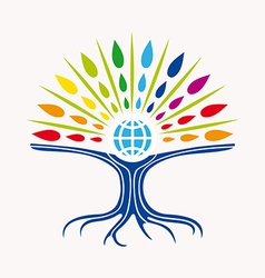 Community manager education world tree concept vector