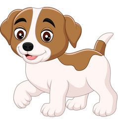 cute little dog cartoon isolated vector image