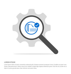 diving in water icon search glass with gear vector image