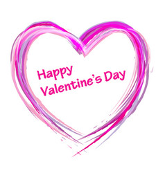 draw heart valentine day vector image