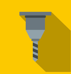 Drill bit icon flat style vector