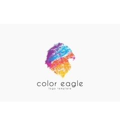eagle logo design bird logo color eagle america vector image