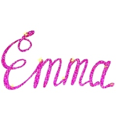 Emma name lettering tinsels vector image