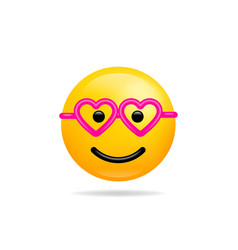 emoji smile icon symbol smiley face with heart vector image
