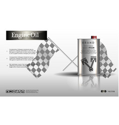 Engine oil in an iron jarbottle engine oil vector