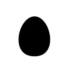 Flat egg icon vector