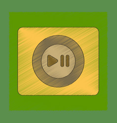 Flat shading style icon music player vector