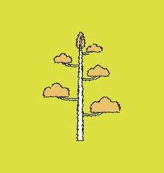 Flat shading style icon tree vector