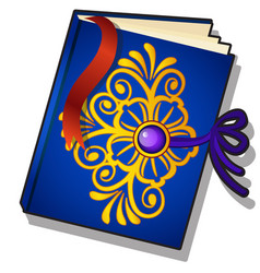 gift decorated book with golden florid pattern vector image