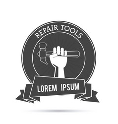 Hammer tool icon repair concept graphic vector