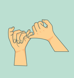 hand pinky promise vector image